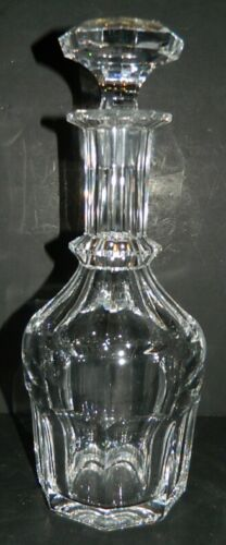 Large Heavy Decanter - Cut Clear Crystal