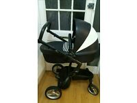 Mima xari black and white limited edition stroller