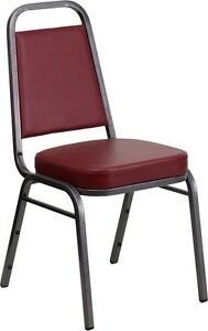 TRAPEZOIDAL BACK STACKING BANQUET CHAIR.On sale!