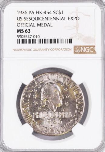 1926 US Sesquicentennial Expo Medal - HK-454, MS63 NGC - Token, Philadelphia