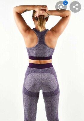 Merakilo(Gymshark Flex Style)Purple Fusion High Waist GymWorkout Leggings Size M