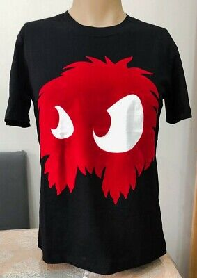 BNWT Authentic Alexander McQueen Red Mad Chester Black T-shirt for Men XL Size