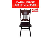 Solid Kitchen Dining Vintage Furniture Farmhouse Chair Shabby Chic Set of 6