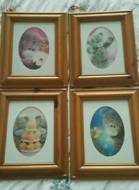 ME TO YOU 3D PINE FRAMED PICTURES X4