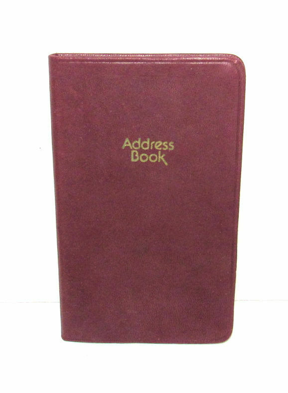 Vintage Leather Personal Pocket Address Book Unused NOS