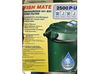 Pond filter pressurised fish mate 2500 p.uv