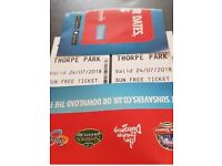 Thorpe Park tickets x 2 24.7.18