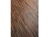 6 Packs UNUSED Homebase Zebrano Moisture resistant Laminate flooring