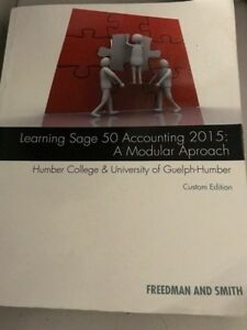 Learning Sage 50 Accounting (Humber College Edition) For Sale