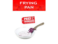 24cm Ceramic Frying Pan Induction Compatible Non Stick WHITE Kitchen Cooking Pan