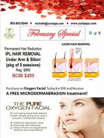 Buy an Oxygen Facial for $50 & recieve a FREE Microdermabrasion!