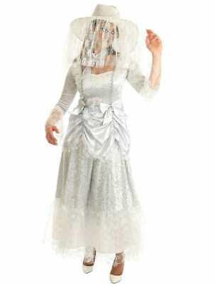 GHOST BRIDE HALLOWEEN FANCY DRESS COSTUME GHOSTLY CORPSE BRIDE DRESS - Ghost Bride Kostüm
