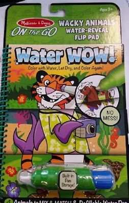 Melissa and Doug Water Wow Wacky Animals Water Reveal Flip Pad # 9464 - Water Wow Melissa And Doug