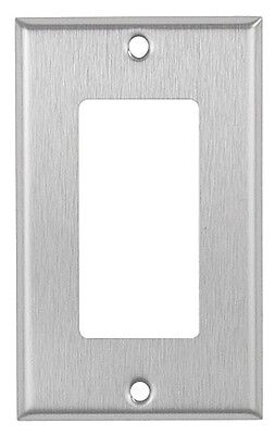 Decora Style Wall - Decorator 1-Gang Brushed Stainless Steel Wall Plate Metal Wallplate Decora Style