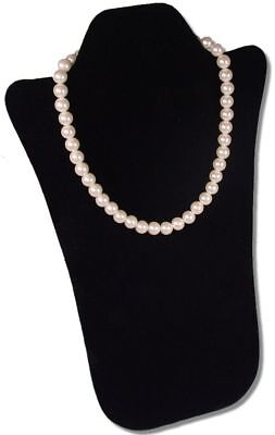 14h Padded Necklace Pendant Chain Black Jewelry Display Easel Case Pj13pb1