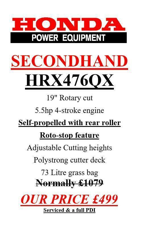 HONDA HRX476QX LAWN MOWER 19