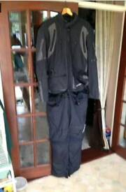 Motorcycle jacket and trousers.