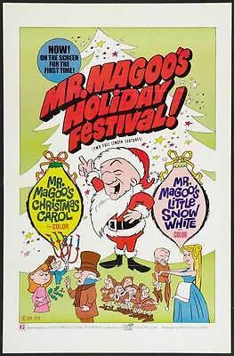 MISTER MAGOO'S CHRISTMAS CAROL Movie POSTER 27x40