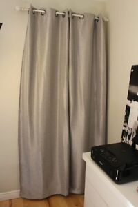 Grey/silver blackout curtains