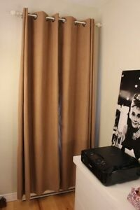 Brown blackout curtains
