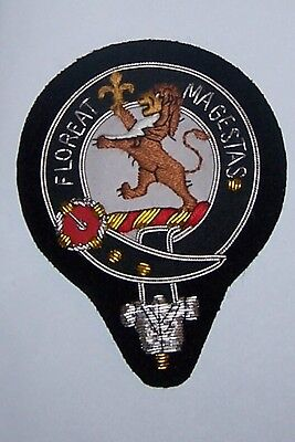 UK Royal Scottish Scotland Clan Brown Crest Heraldry Family Name Arms COA Patch