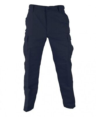 Regular Ripstop Bdu Pants - Navy Blue Uniform BDU Tactical Military Pants Propper Zipper Fly 60/40 Ripstop