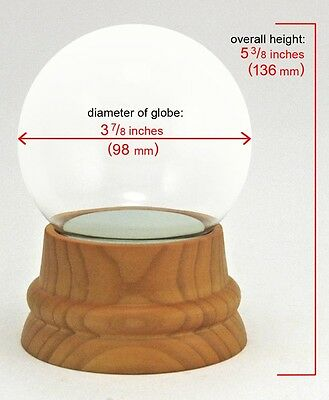 DIY Make-your-Own Large Glass Snow Globe Kit w/ hand-turned Wood Base Beautiful!