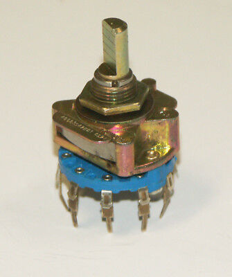 Unidex Rotary Switch 249 1 Pole 10 Position Non Shorting Old Stock