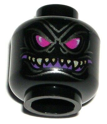 LEGO NINJAGO OVERLORD MINIFIGURE HEAD Black Halloween Monster Face 70728 - Lego Ninjago Halloween