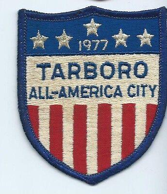 Tarboro NC All American City 1977 Patch 3-3/4 X 3 #305