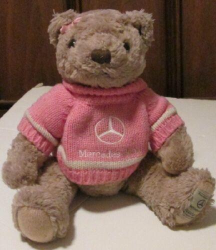 "Plush MERCEDES BENZ Teddy BEAR jointed stuffed pink sweater 14"", Herrington"