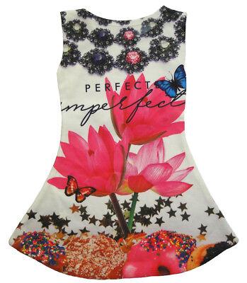 Mädchen Kleid Kinder Sommerkleid Kleider Tunika Shirt 104 - Butterfly Kleider Für Kinder