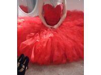 Red Fishtail Prom dress
