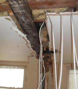 Knocked down wall 647-800-5466 remove rerun wires electrician