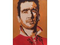 Get your favourite soccer star painted on canvas in your team colours !