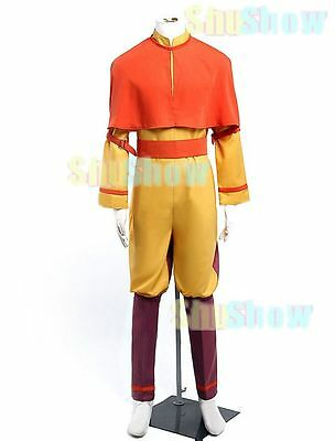 Avatar Aang Halloween Cosplay Costume Shawl Legging Top Bloomers Japanese anime - Aang Avatar Halloween Costume