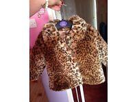 Leopard print coat 6-9months