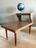Mid Century Two-Tier Side Table/End Table