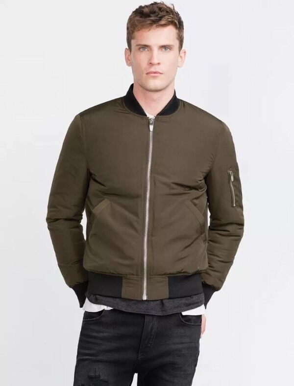New Menu0026#39;s Zara Khaki Bomber Jacket Large | in Bromsgrove Worcestershire | Gumtree
