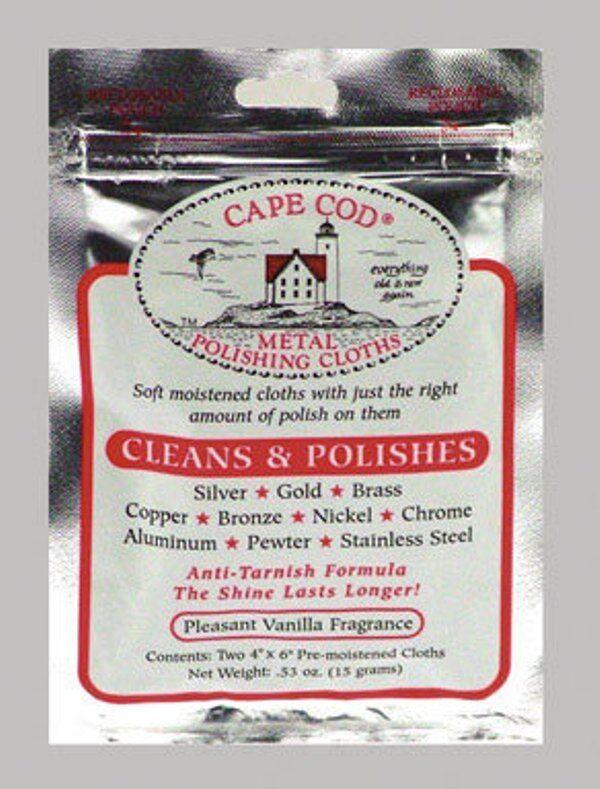 CAPE COD METAL POLISH CLOTHS (2 cloths per pack) Polishing Cloths