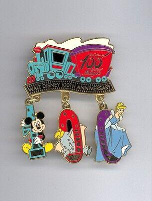 JDS Disney Japan Train Mickey Mouse Dumbo Princess Cinderella Dangle LE Pin
