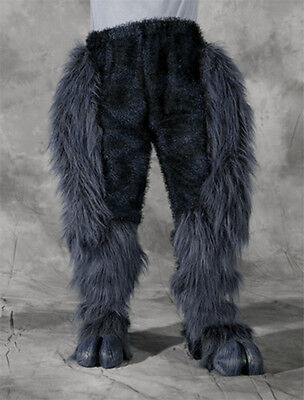 Legs & Hooves Gray Hairy Pants & Feet Devil Faun Adult Zagone Halloween Costume - Hairy Feet