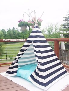 Teepee tipi wigwam play tent nautical style black and white Downtown-West End Greater Vancouver Area image 2