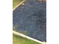 12x bags of black rubber play area bark chippings 8-10m2