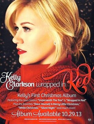 "Kelly Clarkson ""Wrapped In Red"" 8.5"" x 11"" giant Christmas sticker / mini-poster"
