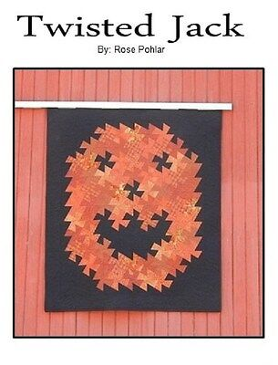 TWISTED JACK - Rose Pohlar  Quilting Sewing  Pattern Halloween tWISTER pATTERN
