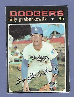 1971 Topps - #85 Billy Grabarkewitz - Los Angeles Dodgers - VgEx+