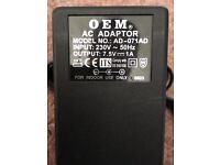 OEM AD-071AD 7.5V 1A AC POWER ADAPTOR / CHARGER