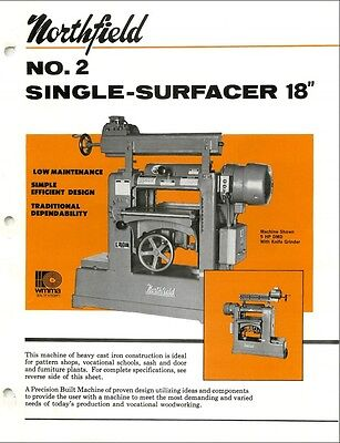 Northfield No. 2 18 Single Planer- Surfacer Operation Parts List Pdf