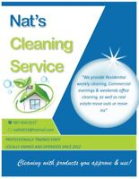 Let me clean for you. Nat's Cleaning Service.5873340227